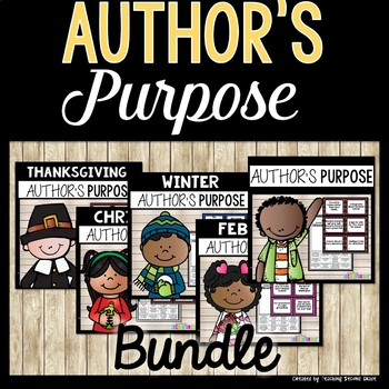 Author's Purpose Worksheets and Centers Bundle