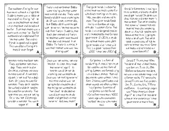 Author's Purpose Cards - Use as a Deck of Cards or Sort Activity