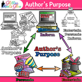 Author's Purpose Chart Clip Art {Persuade, Inform, Entertain Graphics for ELA}