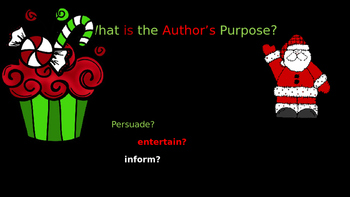 Author's Purpose Christmas Themed Powerpoint
