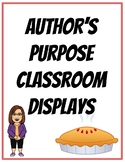 Author's Purpose Classroom Display Posters