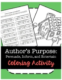 Author's Purpose Coloring Activity