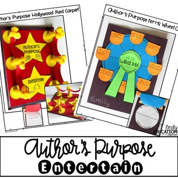Author's Purpose Craft Activities