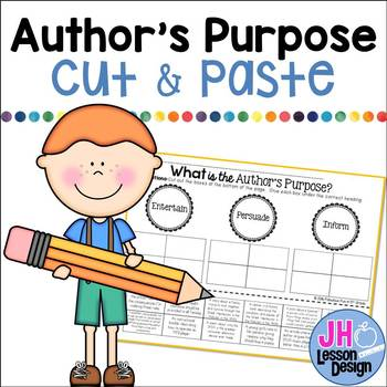 Author's Purpose: Cut and Paste Sorting Activity