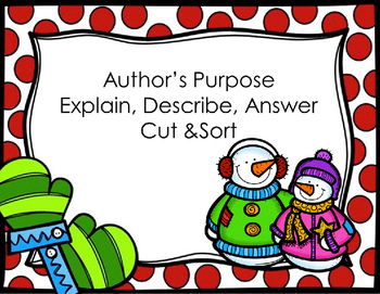 R1 2.6 Author's Purpose (Describe, Explain, and Answer)