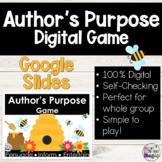 Author's Purpose Digital Game for Google Slides!