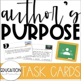 Author's Purpose: Digital Task Cards | DISTANCE REMOTE LEARNING