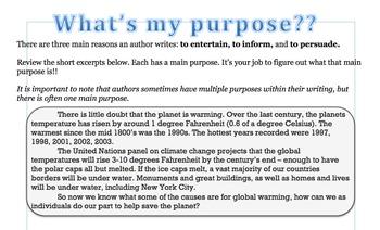 Author's Purpose: Excerpts