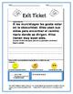 Author's Purpose Exit Tickets SPANISH Stories persuadir, i
