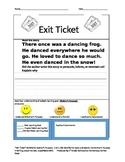Author's Purpose Exit Tickets short Stories Do Now Warm Up