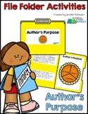 Author's Purpose - File Folder Activity