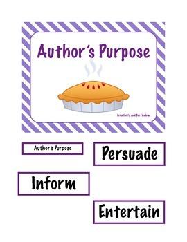 Author's Purpose File Folder Game