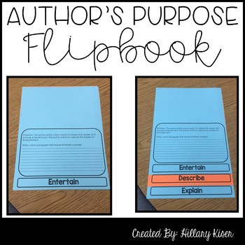 Author's Purpose Flipbook