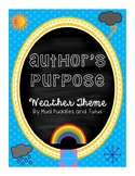 Author's Purpose: Flipbook, Checklist, Task Cards, Bingo