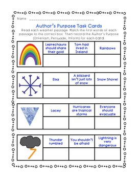 Author's Purpose: Flipbook, Checklist, Task Cards, Bingo