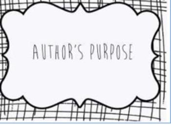 Author's Purpose Flipchart