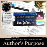 Author's Purpose: Focus Lesson for ANY Novel