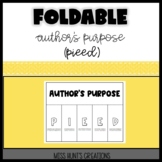 Author's Purpose Foldable (PIEED)