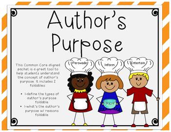 Author's Purpose Foldables