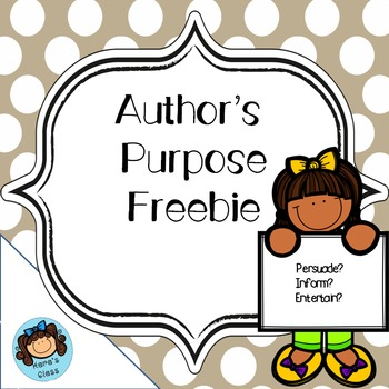 Author's Purpose Freebie