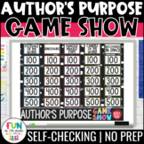 Author's Purpose Game Show (5 Types) | Distance Learning