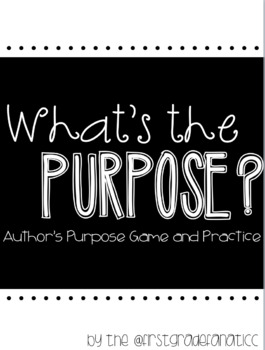 Author's Purpose Game and Practice