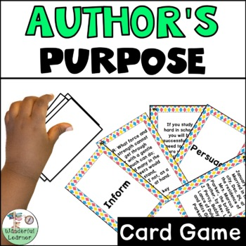Author's Purpose Go Fish Review Game TEKS 2.13, 3.12, and 4.10