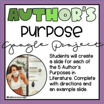 Author's Purpose Google Slides Poster Project