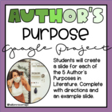 Author's Purpose Google Slides Poster Project