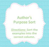 Author's Purpose Google Sort