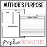 Author's Purpose Graphic Organizers