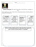 Author's Purpose Graphic Organizer/Activity