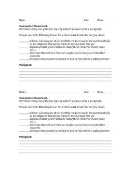 Author's Purpose Guided Notes TN Ready