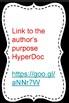 Author's Purpose HyperDoc