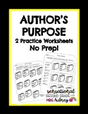 Author's Purpose- Inform, Entertain, Persuade- 2 Worksheets