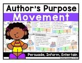 Author's Purpose Movement Interactive Game (Persuade, Inform, Entertain)