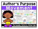 Author's Purpose Movement Interactive Game (Persuade, Info