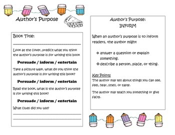 Author's Purpose Interactive Journal/Notebook