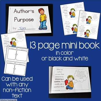 Author's Purpose Interactive Mini Book {RI.2.6}