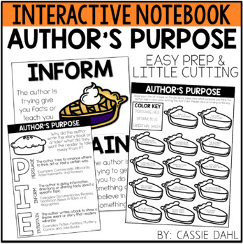 Author's Purpose Interactive Notebook