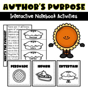Author's Purpose Interactive Notebook Activities