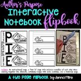 Author's Purpose Interactive Notebook Vertical Flip Book