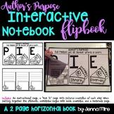 Author's Purpose Interactive Notebook Horizontal Flip Book