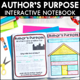 Author's Purpose - Reading Interactive Notebook | Distance