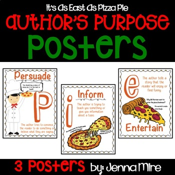 Author's Purpose: It's as easy as pizza pie