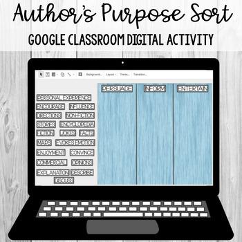 Author's Purpose Keyword Sort:Google Classroom Activity [SOL 4.5a,b] [SOL 4.6c]