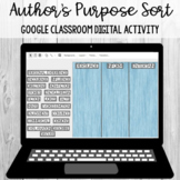 Author's Purpose Keyword Sort:Google Classroom Activity [S