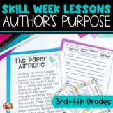 Author's Purpose Lesson Plans with Activities