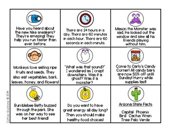 Author's Purpose - Memory Match Games and Printables - Grades 1 - 3