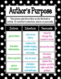 Author's Purpose/Mini-Anchor Chart